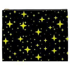 Bright Yellow   Stars In Space Cosmetic Bag (xxxl)  by Costasonlineshop