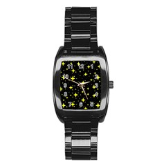 Bright Yellow   Stars In Space Stainless Steel Barrel Watch by Costasonlineshop