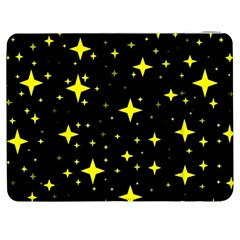 Bright Yellow   Stars In Space Samsung Galaxy Tab 7  P1000 Flip Case by Costasonlineshop