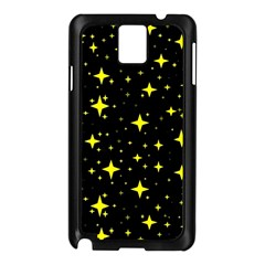Bright Yellow   Stars In Space Samsung Galaxy Note 3 N9005 Case (black) by Costasonlineshop
