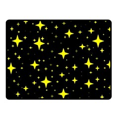 Bright Yellow   Stars In Space Double Sided Fleece Blanket (small)  by Costasonlineshop