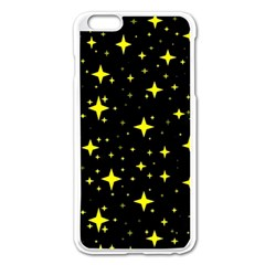 Bright Yellow   Stars In Space Apple Iphone 6 Plus/6s Plus Enamel White Case