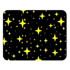 Bright Yellow   Stars In Space Double Sided Flano Blanket (large)  by Costasonlineshop