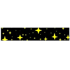 Bright Yellow   Stars In Space Flano Scarf (large) by Costasonlineshop