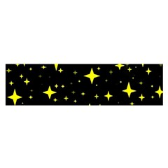 Bright Yellow   Stars In Space Satin Scarf (oblong) by Costasonlineshop