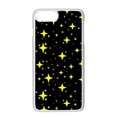 Bright Yellow   Stars In Space Apple Iphone 7 Plus White Seamless Case