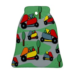 Toy Car Pattern Bell Ornament (2 Sides)