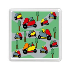 Toy Car Pattern Memory Card Reader (square)  by Valentinaart