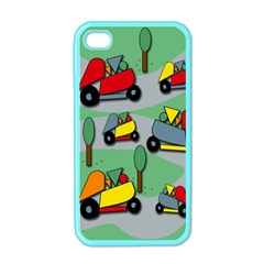 Toy Car Pattern Apple Iphone 4 Case (color) by Valentinaart
