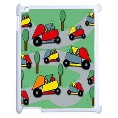 Toy Car Pattern Apple Ipad 2 Case (white) by Valentinaart