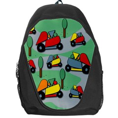 Toy Car Pattern Backpack Bag by Valentinaart