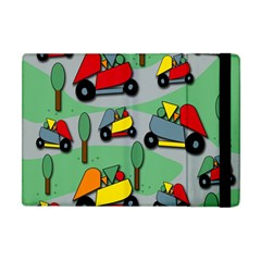 Toy Car Pattern Apple Ipad Mini Flip Case by Valentinaart