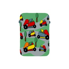 Toy Car Pattern Apple Ipad Mini Protective Soft Cases by Valentinaart