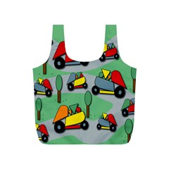 Toy Car Pattern Full Print Recycle Bags (s)  by Valentinaart