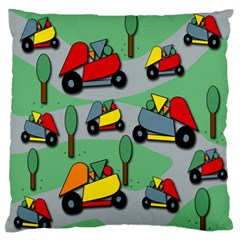 Toy Car Pattern Large Flano Cushion Case (two Sides) by Valentinaart