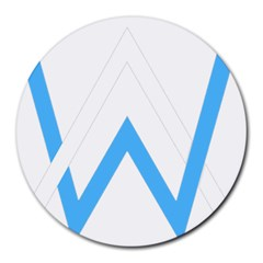 Alan Walker  Logo Round Mousepads by bhazkaragriz