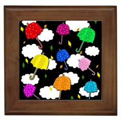 Umbrellas 2 Framed Tiles by Valentinaart