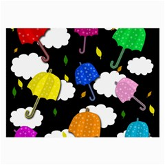 Umbrellas 2 Large Glasses Cloth by Valentinaart