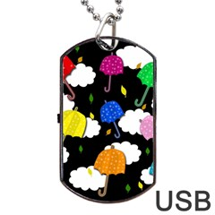 Umbrellas 2 Dog Tag Usb Flash (two Sides)  by Valentinaart