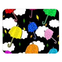 Umbrellas 2 Double Sided Flano Blanket (large)