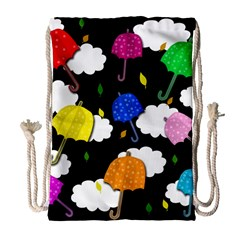 Umbrellas 2 Drawstring Bag (large) by Valentinaart