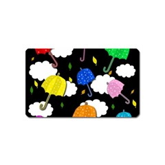 Umbrellas 2 Magnet (name Card) by Valentinaart