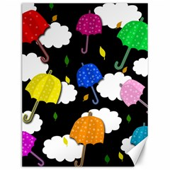 Umbrellas 2 Canvas 12  X 16   by Valentinaart