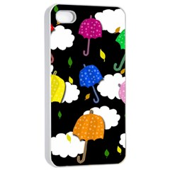 Umbrellas 2 Apple Iphone 4/4s Seamless Case (white) by Valentinaart