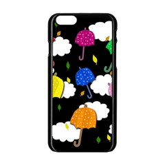 Umbrellas 2 Apple Iphone 6/6s Black Enamel Case by Valentinaart