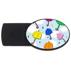 Umbrellas  Usb Flash Drive Oval (2 Gb)  by Valentinaart