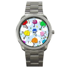 Umbrellas  Sport Metal Watch by Valentinaart