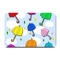 Umbrellas  Small Doormat  by Valentinaart