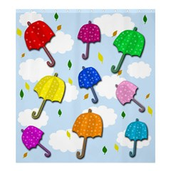 Umbrellas  Shower Curtain 66  X 72  (large)  by Valentinaart