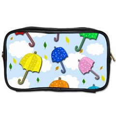 Umbrellas  Toiletries Bags 2 Side by Valentinaart