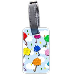 Umbrellas  Luggage Tags (two Sides) by Valentinaart
