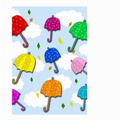 Umbrellas  Small Garden Flag (two Sides) by Valentinaart