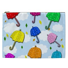 Umbrellas  Cosmetic Bag (xxl)  by Valentinaart
