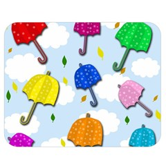 Umbrellas  Double Sided Flano Blanket (medium)  by Valentinaart
