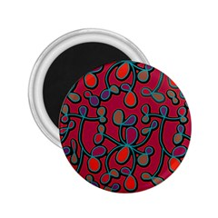 Red Floral Pattern 2 25  Magnets by Valentinaart
