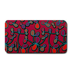 Red Floral Pattern Medium Bar Mats by Valentinaart