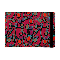 Red Floral Pattern Apple Ipad Mini Flip Case by Valentinaart