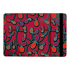 Red Floral Pattern Samsung Galaxy Tab Pro 10 1  Flip Case