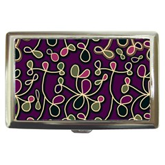Elegant Purple Pattern Cigarette Money Cases by Valentinaart