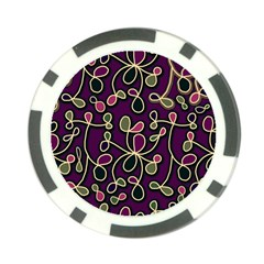 Elegant Purple Pattern Poker Chip Card Guards by Valentinaart