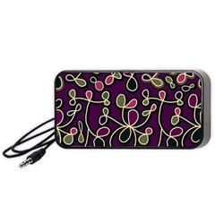 Elegant Purple Pattern Portable Speaker (black)  by Valentinaart