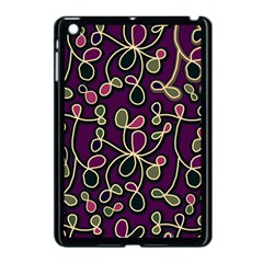 Elegant Purple Pattern Apple Ipad Mini Case (black) by Valentinaart