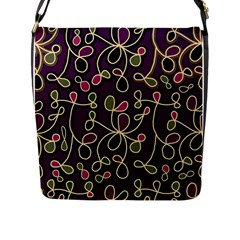 Elegant Purple Pattern Flap Messenger Bag (l)  by Valentinaart