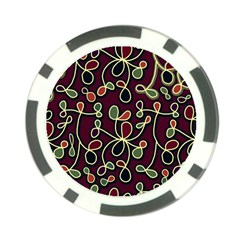 Elegant Decorative Pattern Poker Chip Card Guards by Valentinaart