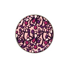 Pink And Purple Pattern Hat Clip Ball Marker