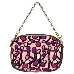 Pink And Purple Pattern Chain Purses (two Sides)  by Valentinaart